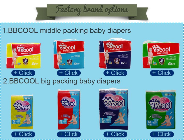 Export Africa Baby daipers factory wholesales Disposable Baby Diapers