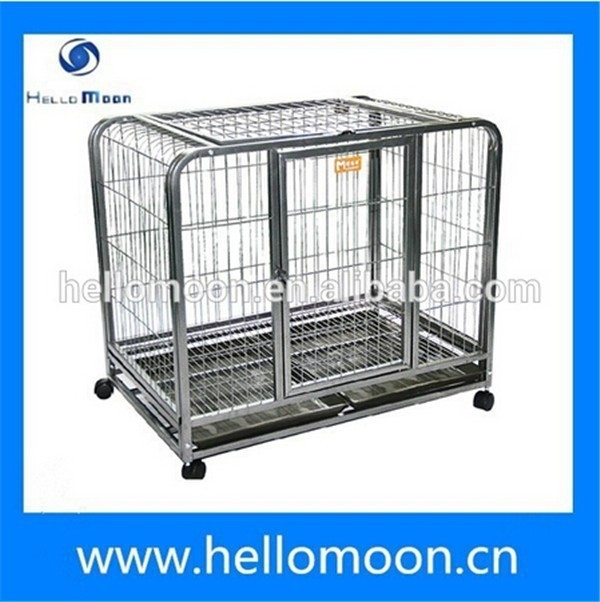 Professional Factory Top Quality Luxury Pet Dog Crates With Wheels