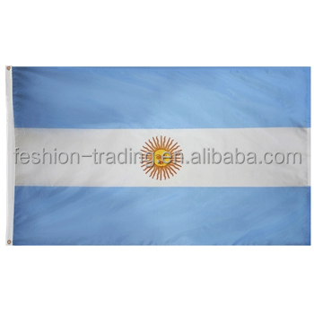 Heat sublimation printing polyester Argentina Flag flag for <strong>advertisement</strong>