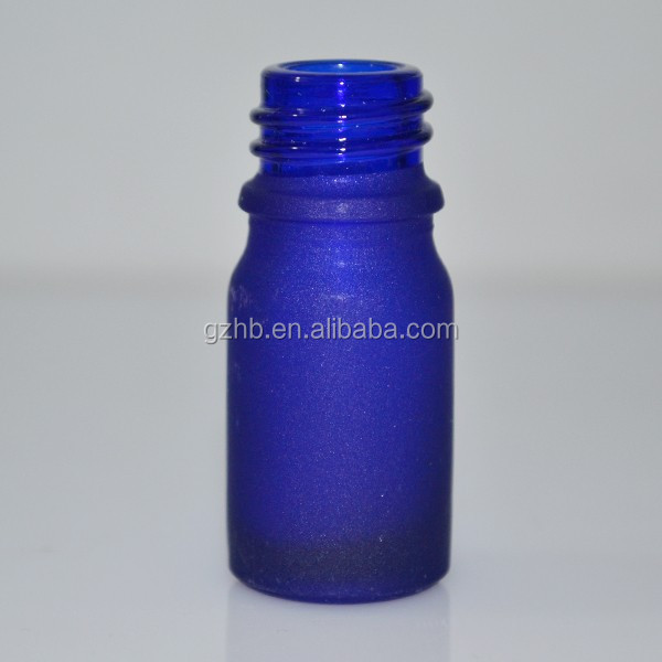 New Products 5ml Blue Glass Cosmetic Cream Container/Crystal Perfume Blue Bottle