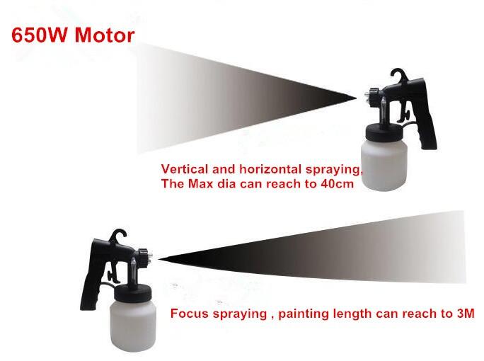 best price 220v 650w wall paint spray gun 800ml hvlp mini electric