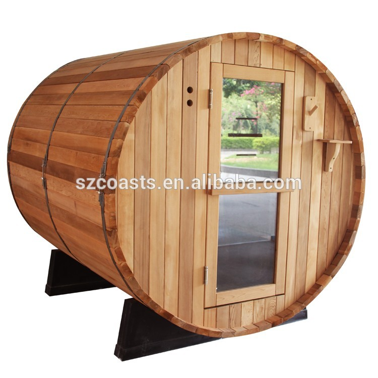 Low price wholesale barrel sauna cedar outdoor sauna room for sale