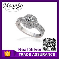wholesale high quality MOONSO different types stones rings ottoman latest design ladies rings KR783S