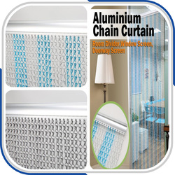 Aluminum string metal door curtain