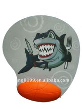 shark basketball PU rest mouse pad