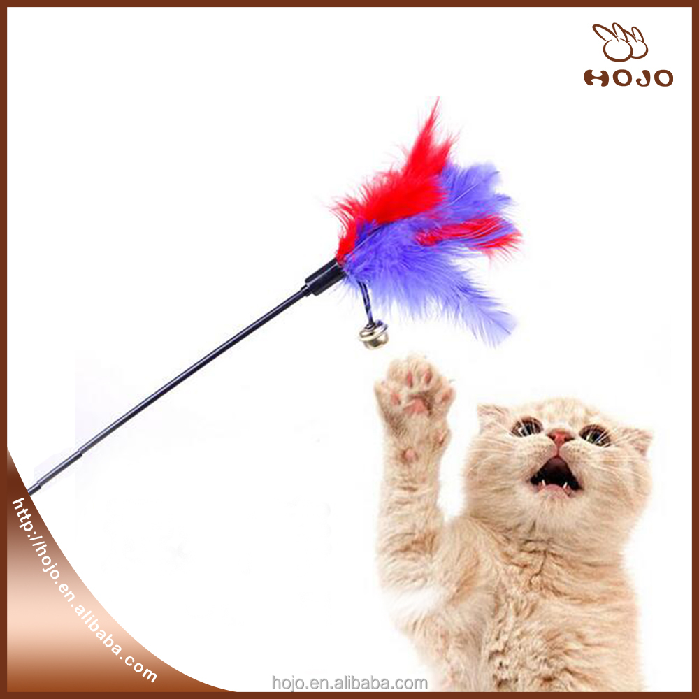 Pet Supplies Ultra long Rod Pets Toy Cat Play Feather Teaser Small Bell Type Cat Toy 1pcs 60cm