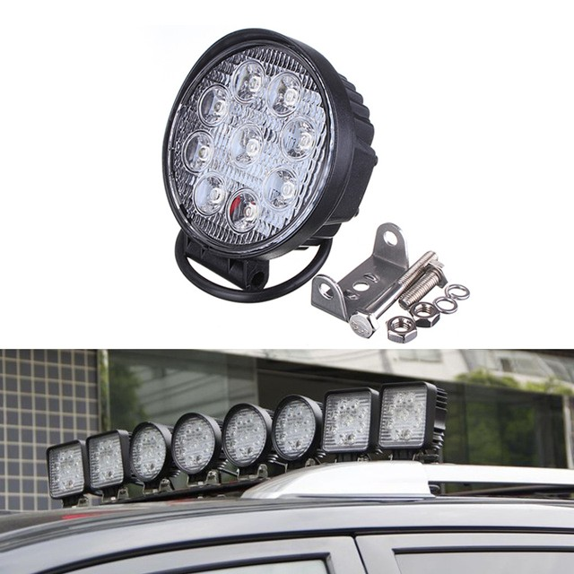 Top sale!!18w 24w 25w 27w led work light for auto parts,cars,atvs ip67 led headlight