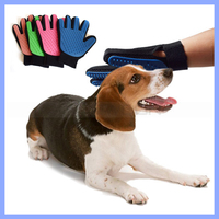 Pet Deshedding Cleaning Brush Massage Five Finger Glove Dog Hair Grooming