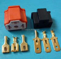 500set /lot Ceramic Copper car H4 male female bulb socket,auto lamp base adapters car headlight connector