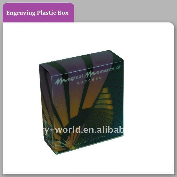 Plastic/PP/PVC Packaging Box With Engraving Effect For Food Or Gift