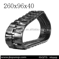 260x96x40 mini rubber track for Snowmobile rubber track, rubber track for construction machinery