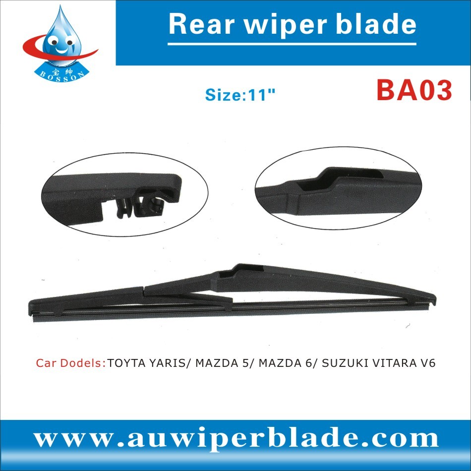 Factory wholesale car wiper blade,soft flat wiper blades.rear wiper blade