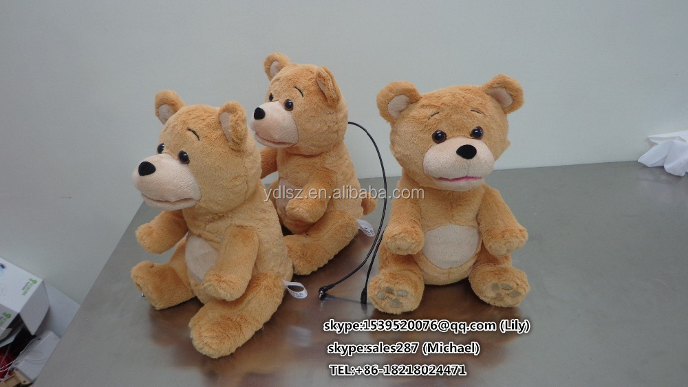 Plush Electronic Bear Sound Toy /Stuffed Musical Toy for Christmas/Singing Christmas Song Soft Bear Operated by Battery