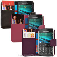 For BlackBerry 9720 PU Leather Wallet Flip Case Cover