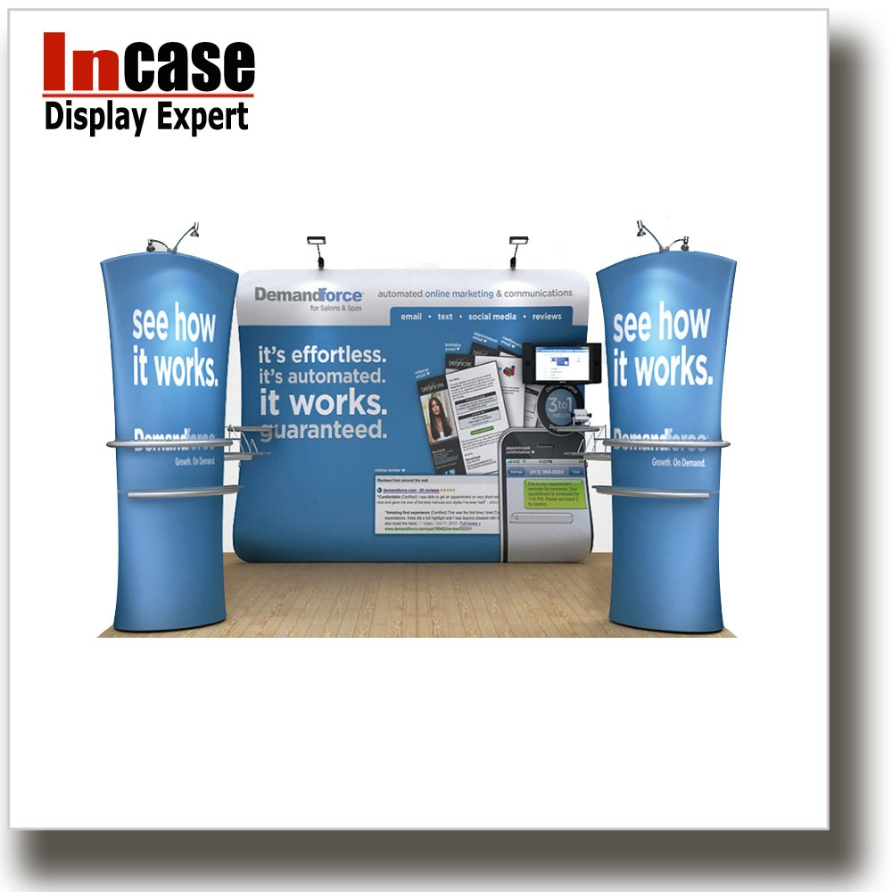 Incase Portable Fabric Display Exhibition Booth Aluminum Tension Frame