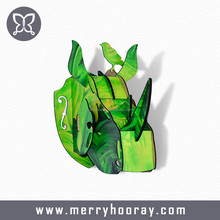 modern interior Rhino head animal head ornaments artist wall decoration office school home decoration idea