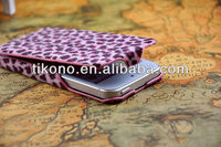 Ultrathin durable leopard design flip leather case for iphone5