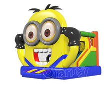 Hot selling Minions inflatable combo bouncers, inflatable bouncer slide for sale