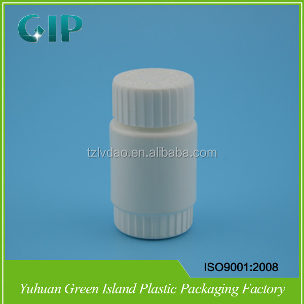 60ml Pill bottle Wide mouth Plastic container with lid, Cylinder medicine bottle , Wholesale white tablet bottle