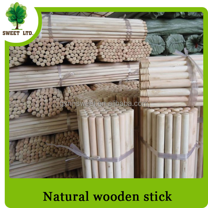 Eco-friendly natural wood broom stick / hot sales broom wooden handle
