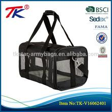 Portable travel approved foldable shoulder pet bag carrier