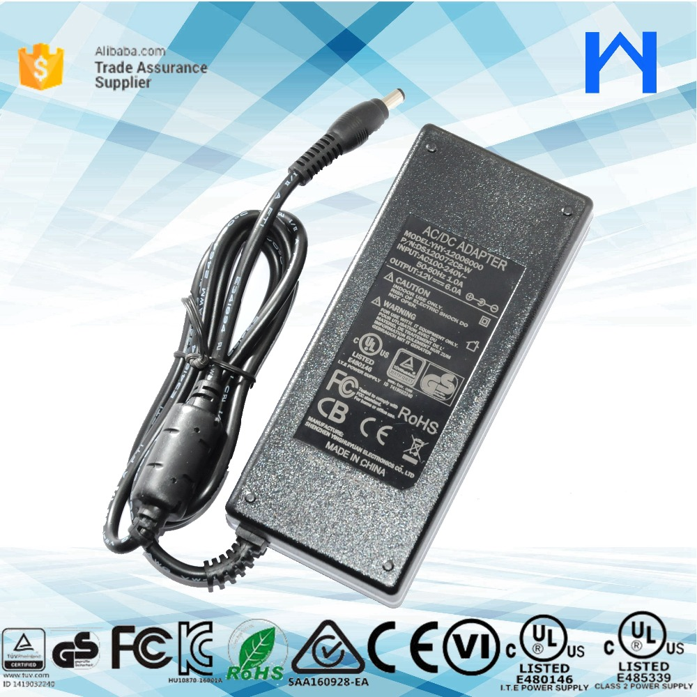 220v dc output power supply Doe vi class 2 switching power adapter 12V 6A ac dc converter