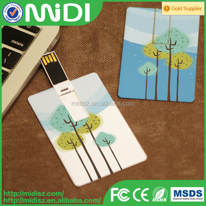 Business Gift Promotional Super Thin Credit Card USB Flash Drive
