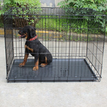Well-suited heavy duty dog cage welded wire mesh dog cage
