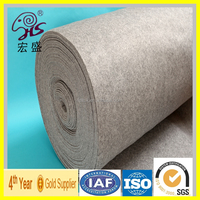 3mm factory customize 100% natural merino hongsheng grey wool felt