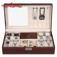 Luxury Watch Box 10 Velvet Pillow Slots, Premium Display Case for watch and jewelry