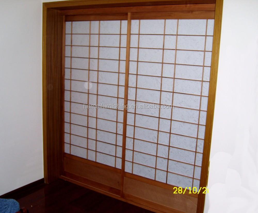 S lido de madera japon s shoji puerta corredera con estilo - Puertas shoji ...