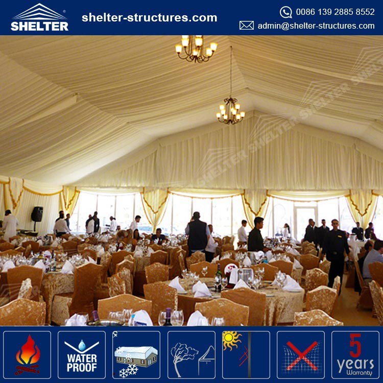 Luxury design wedding party tent curtains for Weddings Events for Sale in Guangzhou