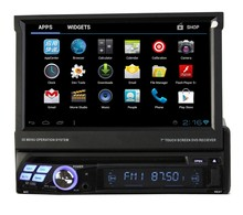 Single din 7 inch car stereo for universal BT/ DVD/ CD/ Ipod/ Music/ Hot selling