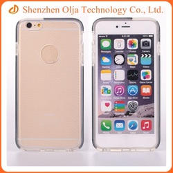 Fashionable transparent silicon tpu phone case for apple iPhone 6