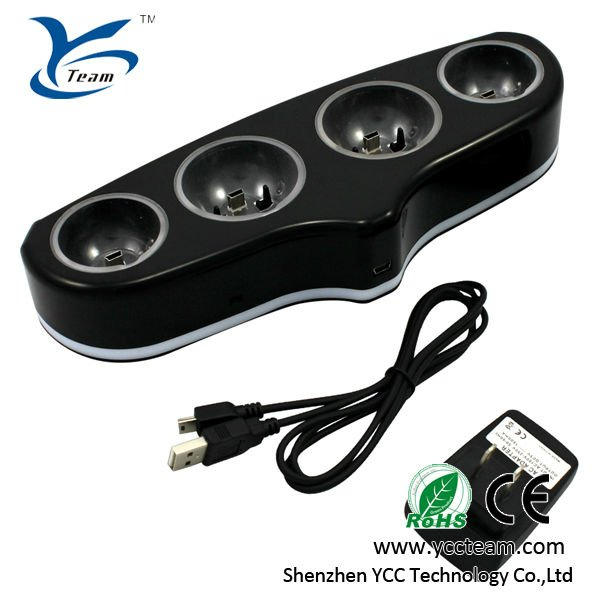 2013 wholesale best selling game player charger for play station 4 charger for ps3 move quad