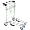 Stainless steel airport luggage travel cart with 4 wheels