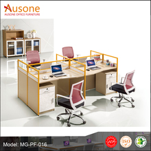 4 seat wooden office workstation cubicle/ office partition/ computer table