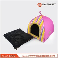 colorful Yurt Style Dog Cat Bed Indoor House Kennel Folding Pet Tent