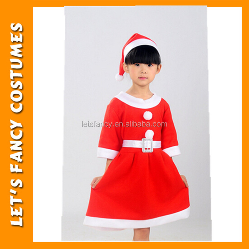 PGCC-0612 Cheaper wholesale Christmas dress for girls Children santa claus party costumes