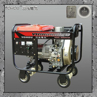 Diesel single three phase power lift portable generator