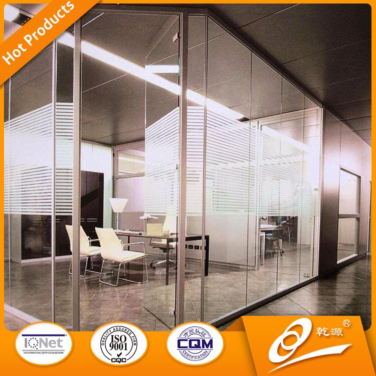 2017 new glass office vertical glass partition wall