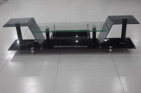 beautiful appearance bent glass TV stand with reasonable price