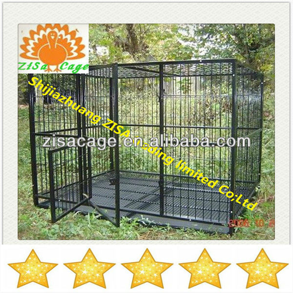Hot ! High quality Black stainless steel dog crate /cage /house