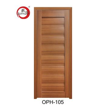 Best Seller High End Solid Board Wood Entry Pvc Toilet Door