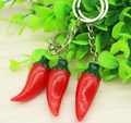 Custom make simulation pepper vegetable key chain/ plastic vegetable keychain /custom your own vegetable key chain