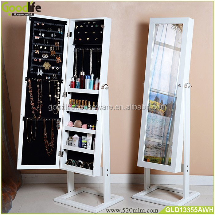 Alibaba furniture white mirror jewelry armoire wholesale