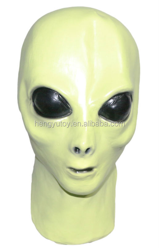 Awesome Glow in the Dark UFO Extra Terrestrial Movie Roswell Fancy Dress Stylish Luminous Alien Mask