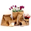 Unique washable paper bag,water resistant paper bag, waterproof kraft paper bag plant