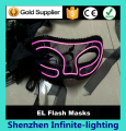 Hot Sell Wholesale el wire flashing Lace Masks / Masquerade Mask