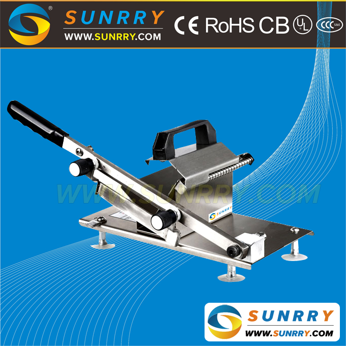 Modern Stainless Steel Cut Frozen Meat Slicer Durable manual Meat Flaker For Commercial Use (SUNRRY SY-MS200MB)